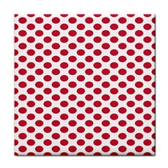 Polka Dot Red White Face Towel by Mariart
