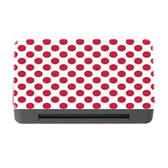 Polka Dot Red White Memory Card Reader With Cf by Mariart