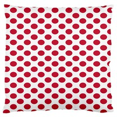 Polka Dot Red White Large Cushion Case (two Sides) by Mariart