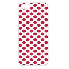 Polka Dot Red White Apple Iphone 5 Seamless Case (white) by Mariart