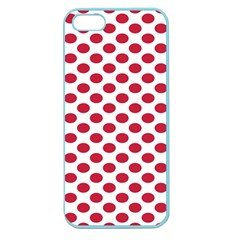 Polka Dot Red White Apple Seamless Iphone 5 Case (color) by Mariart