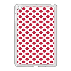 Polka Dot Red White Apple Ipad Mini Case (white) by Mariart