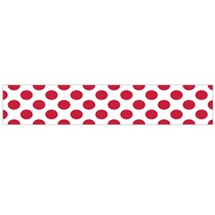 Polka Dot Red White Flano Scarf (large) by Mariart