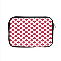 Polka Dot Red White Apple Macbook Pro 15  Zipper Case by Mariart