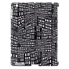 Plaid Black White Apple Ipad 3/4 Hardshell Case (compatible With Smart Cover) by Mariart