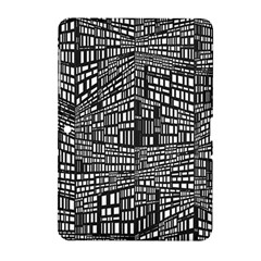 Plaid Black White Samsung Galaxy Tab 2 (10 1 ) P5100 Hardshell Case  by Mariart