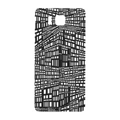 Plaid Black White Samsung Galaxy Alpha Hardshell Back Case by Mariart