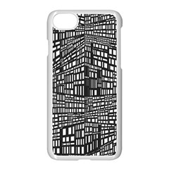 Plaid Black White Apple Iphone 7 Seamless Case (white) by Mariart