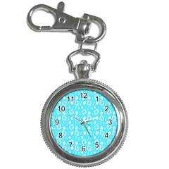 Record Blue Dj Music Note Club Key Chain Watches by Mariart