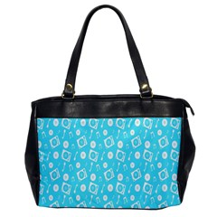 Record Blue Dj Music Note Club Office Handbags by Mariart