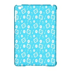 Record Blue Dj Music Note Club Apple Ipad Mini Hardshell Case (compatible With Smart Cover) by Mariart