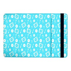 Record Blue Dj Music Note Club Samsung Galaxy Tab Pro 10 1  Flip Case by Mariart
