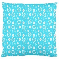 Record Blue Dj Music Note Club Standard Flano Cushion Case (one Side) by Mariart