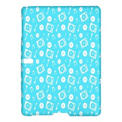 Record Blue Dj Music Note Club Samsung Galaxy Tab S (10 5 ) Hardshell Case  by Mariart
