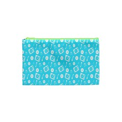 Record Blue Dj Music Note Club Cosmetic Bag (xs) by Mariart