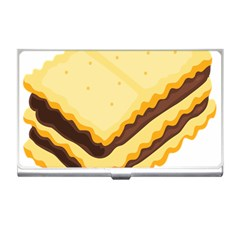 Sandwich Biscuit Chocolate Bread Business Card Holders by Mariart