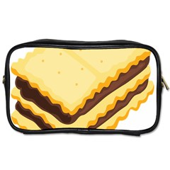 Sandwich Biscuit Chocolate Bread Toiletries Bags 2 Side by Mariart