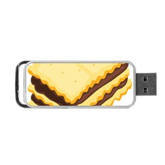 Sandwich Biscuit Chocolate Bread Portable Usb Flash (two Sides) by Mariart