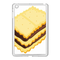 Sandwich Biscuit Chocolate Bread Apple Ipad Mini Case (white) by Mariart