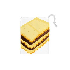 Sandwich Biscuit Chocolate Bread Drawstring Pouches (xs)  by Mariart