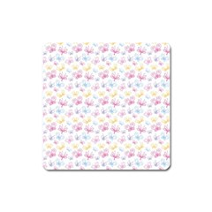 Pretty Colorful Butterflies Square Magnet by tarastyle