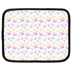 Pretty Colorful Butterflies Netbook Case (xxl)  by tarastyle
