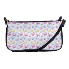 Pretty Colorful Butterflies Shoulder Clutch Bags by tarastyle