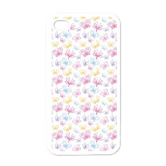 Pretty Colorful Butterflies Apple Iphone 4 Case (white)