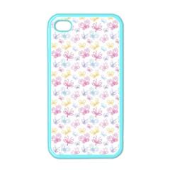 Pretty Colorful Butterflies Apple Iphone 4 Case (color)