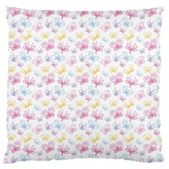 Pretty Colorful Butterflies Large Cushion Case (two Sides)