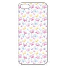 Pretty Colorful Butterflies Apple Seamless Iphone 5 Case (clear)