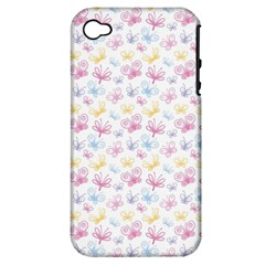 Pretty Colorful Butterflies Apple Iphone 4/4s Hardshell Case (pc+silicone)