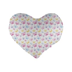 Pretty Colorful Butterflies Standard 16  Premium Heart Shape Cushions by tarastyle