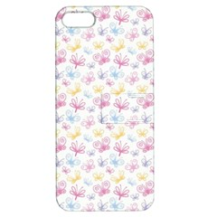 Pretty Colorful Butterflies Apple Iphone 5 Hardshell Case With Stand