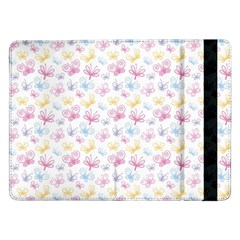 Pretty Colorful Butterflies Samsung Galaxy Tab Pro 12 2  Flip Case by tarastyle