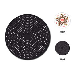 Round Stitch Scrapbook Circle Stitching Template Polka Dot Playing Cards (round)  by Mariart
