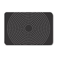 Round Stitch Scrapbook Circle Stitching Template Polka Dot Small Doormat  by Mariart
