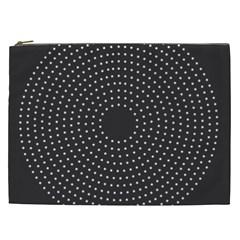 Round Stitch Scrapbook Circle Stitching Template Polka Dot Cosmetic Bag (xxl)  by Mariart