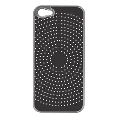 Round Stitch Scrapbook Circle Stitching Template Polka Dot Apple Iphone 5 Case (silver) by Mariart