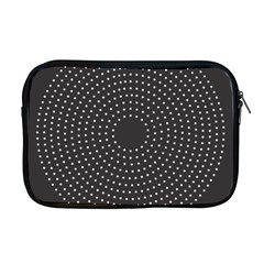 Round Stitch Scrapbook Circle Stitching Template Polka Dot Apple Macbook Pro 17  Zipper Case by Mariart