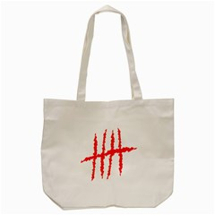 Scratches Claw Red White H Tote Bag (cream) by Mariart