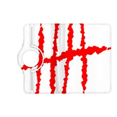 Scratches Claw Red White H Kindle Fire Hd (2013) Flip 360 Case by Mariart
