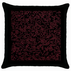 Random Red Black Throw Pillow Case (black) by Mariart
