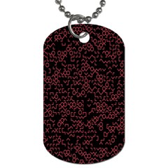 Random Red Black Dog Tag (one Side) by Mariart