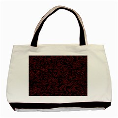 Random Red Black Basic Tote Bag (two Sides) by Mariart