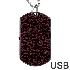 Random Red Black Dog Tag Usb Flash (two Sides) by Mariart