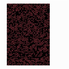 Random Red Black Small Garden Flag (two Sides) by Mariart