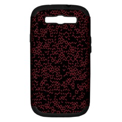 Random Red Black Samsung Galaxy S Iii Hardshell Case (pc+silicone) by Mariart