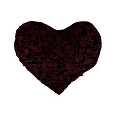 Random Red Black Standard 16  Premium Heart Shape Cushions by Mariart