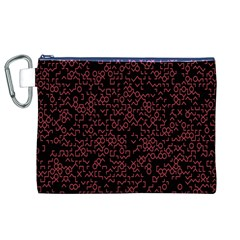 Random Red Black Canvas Cosmetic Bag (xl) by Mariart